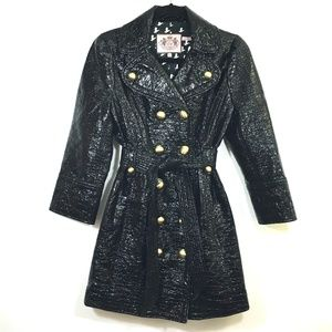 Juicy Couture Double Breasted Trench Coat Sz M